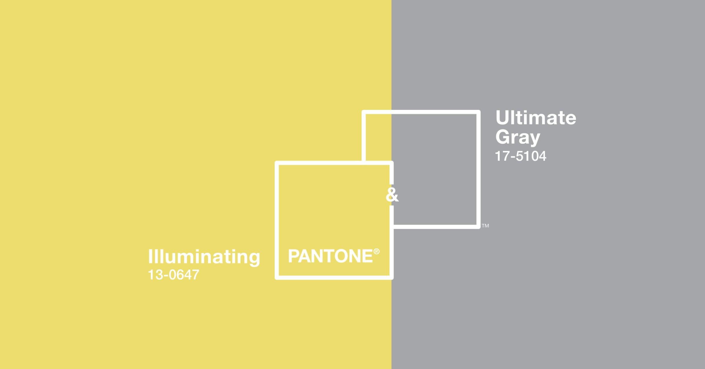 """""""Illuminating + Ultimate Gray"""" สี Pantone แห่งปี 2021  สื่อความหวัง-ความแข็งแกร่ง หลังผ่านวิกฤต"""