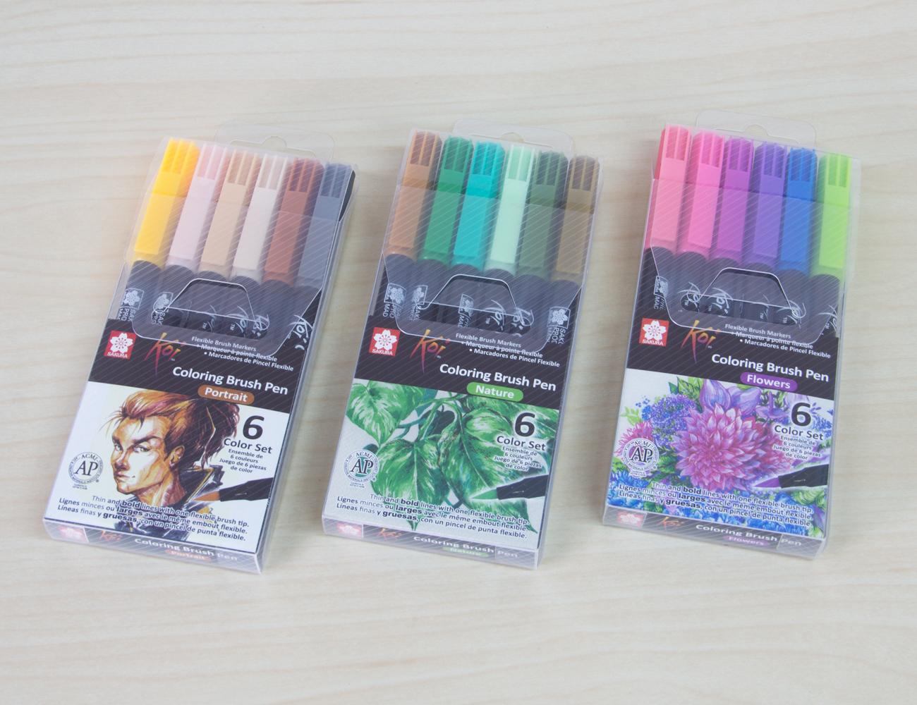 Sakura KOI Coloring Brush Pen (XBR-6-Color-Set)
