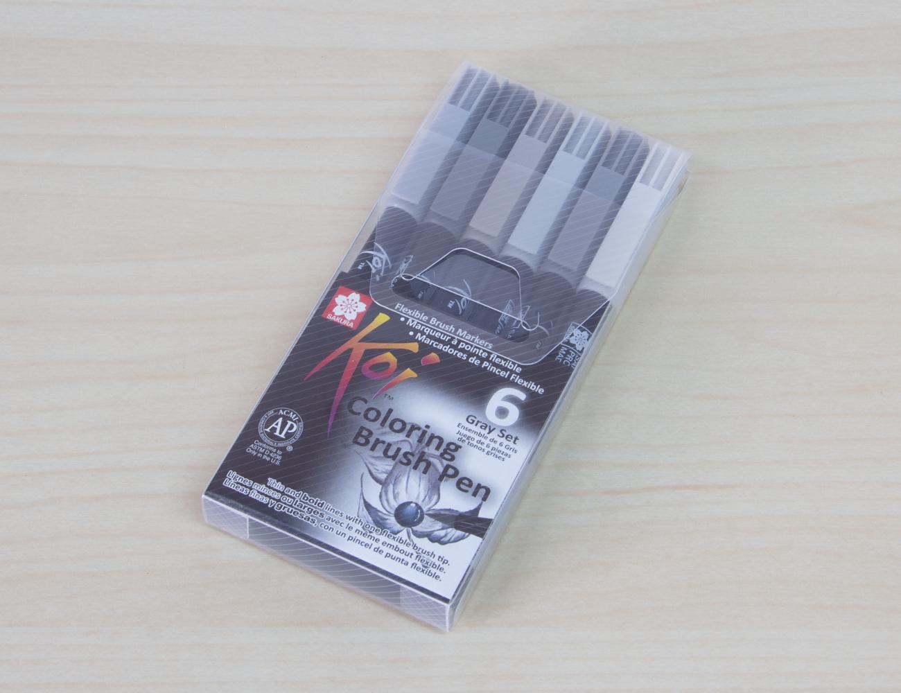 Sakura KOI Coloring Brush Pen (XBR-6-Grey-Set)